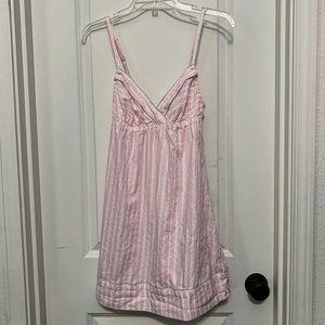 Victoria's Secret Pink & White Lingerie Nightgown
